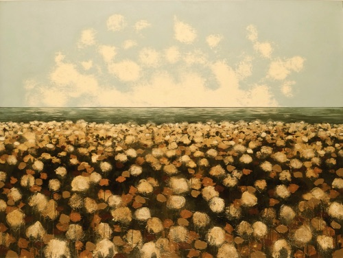 Cotton by the Sea #2 Mixed media 72x96