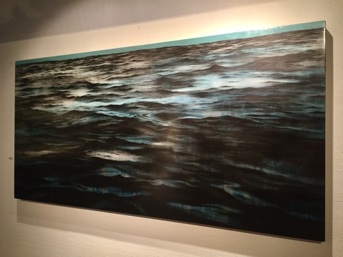 Ocean Solitude Graphite and oil on panel 36x72